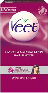 veet wax strips for upper lip review