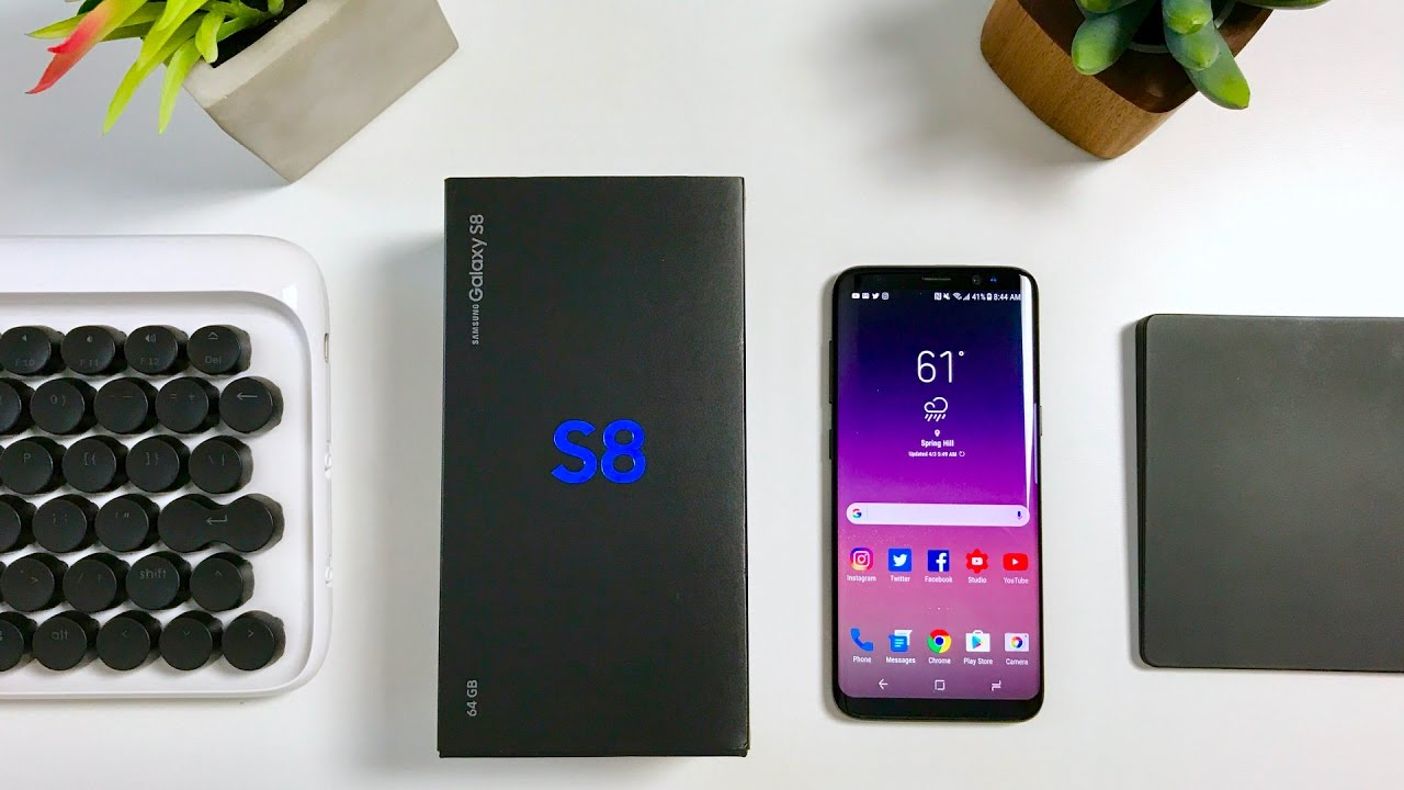 samsung galaxy s8 unboxing and review