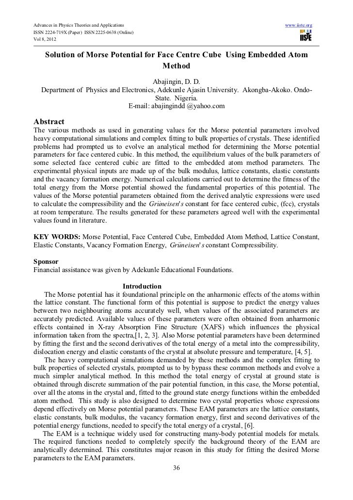 the embedded atom method a review of theory and applications
