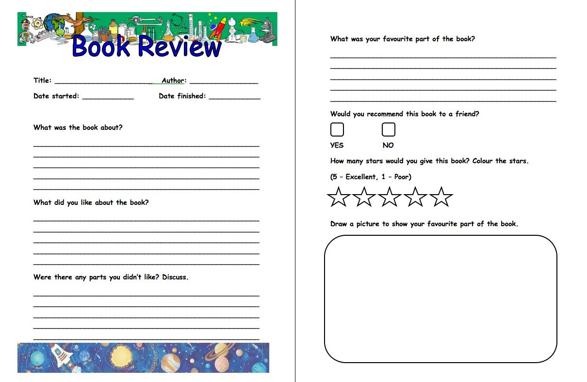 what is a book review format